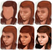 portrait process by elgwen