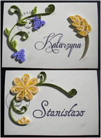 Quilling - name tags by Eti-chan