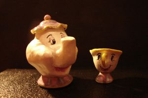 Mrs. Potts and Chip by SaintBree