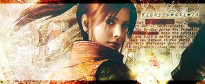 Claire Redfield RE ORC sign by Claire-Wesker1