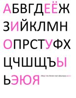 Russian Alphabet by sternradio7