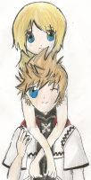 roxas and namine by yourFACEEE