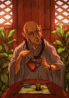 Monk and tea 2 by alxferreiro