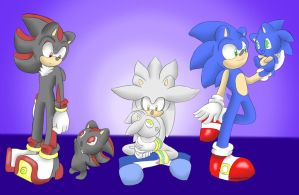 Sonadilver with chibis by xShadilverx