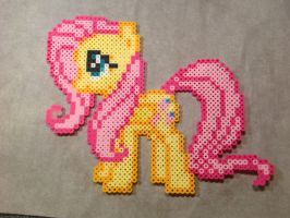 Fluttershy Perler Beads by pokelover586