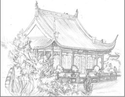 Chinese garden 02 by Coudry
