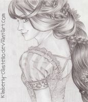 Disney: Rapunzel Sketch by kimberly-castello