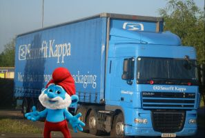 Papa Smurf's Haulage Firm by UncleGargy