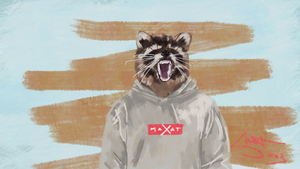 The Most Supreme Raccon by MaxatdesigN