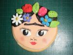 Frida Kahlo cookie by chiaopi