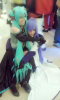 vocaloid synchronicity miku and Gakupo by miyaca