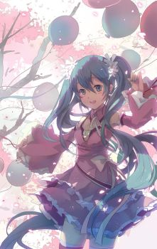 MIKU with spring by shadowsinking