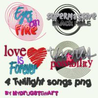 Pack Png Twilight Songs by MyDrugStewart