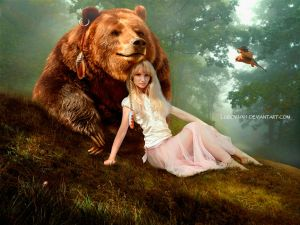 Girl and Bear by Lubov2001
