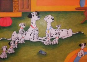 101 Dalmatians drawing by chloesmith8