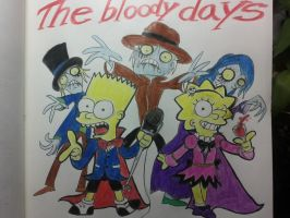 The simpsons:The bloody day.(Bart and Lisa) by komi114