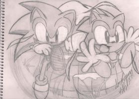 mydraw sonic generations by andreahedgehog