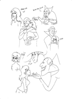 Hotel Transylvania Doodles by TriplePassComedy