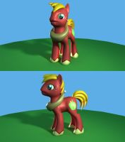 MLP: Big Macintosh 3D Model Renders by Eben-swf