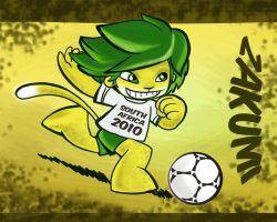 zakumi world cup mascot 2010 by Kna