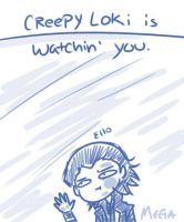 Creepy Loki by Megabeth94