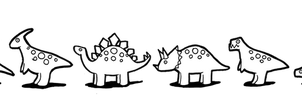 Small spotted dinosaurs - Free to colour by Jedni