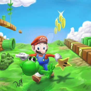 Super Mario by DaviLeopardo