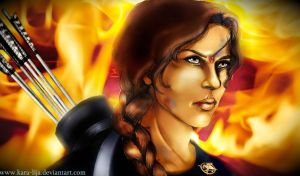 The Girl on Fire by kara-lija