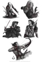 Assassin's Creed sketches by Brilcrist