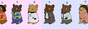 60's hamster adoptables by AForDA