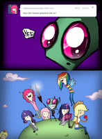 AdventureponyZIM TIME! by InvaderSkuff