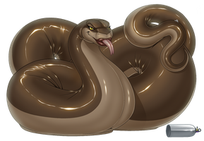 Feral Balloon Snake_Complete (-^w^-) by wsache2020