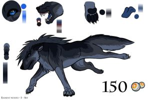 Element wolf # 1 - sky by wolfhound56200