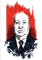 Alfred Hitchcock by RADMANRB