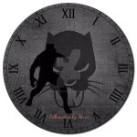 Black Panther Clock by SilhouettesbyMarie