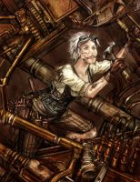 Harsh Realities - Steampunk Mechanic by pixieface