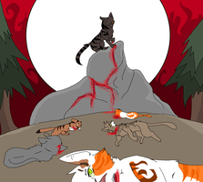 Tigerstar's blood hill by prussiawashere999