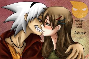 Finish Soul and Maka 4ever by Viking-Princess