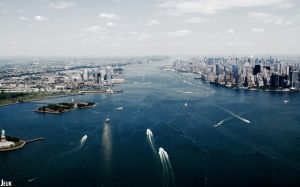 New York from Helicopter by Jeuk123