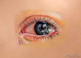 tearful eye practice by xxMagicGlowxx