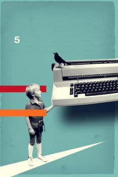 bird on a typewriter by mbym