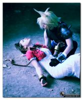 Cloud and Aeris - A Last Goodbye by XenoLink