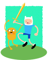 Jake and Finn by chingolobird