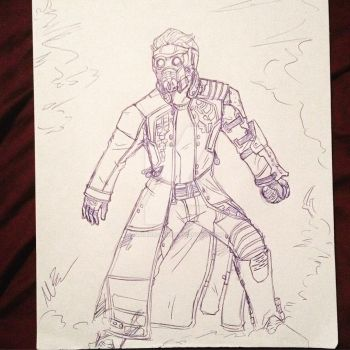 Starlord Drawing by GingerBaribuu