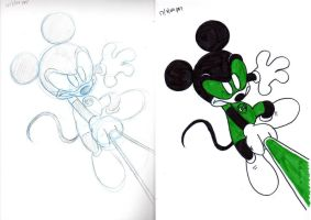 Green Lantern Mickey by DarylT