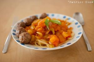 Meatball spaghetti again by patchow