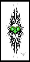 Gothic Green Heart Spl. Print by Quicksilverfury