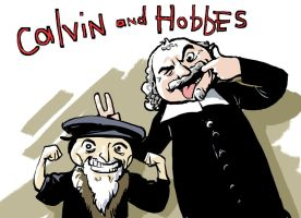 John Calvin and Thomas Hobbes by SimonFraser