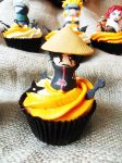 Itachi cupcake by I-am-Ginger-Pops