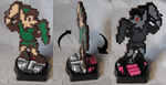 Perler Link and Shadow Link Statue by Dlugo1975